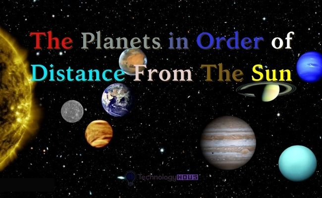 planets in order of distance from sun